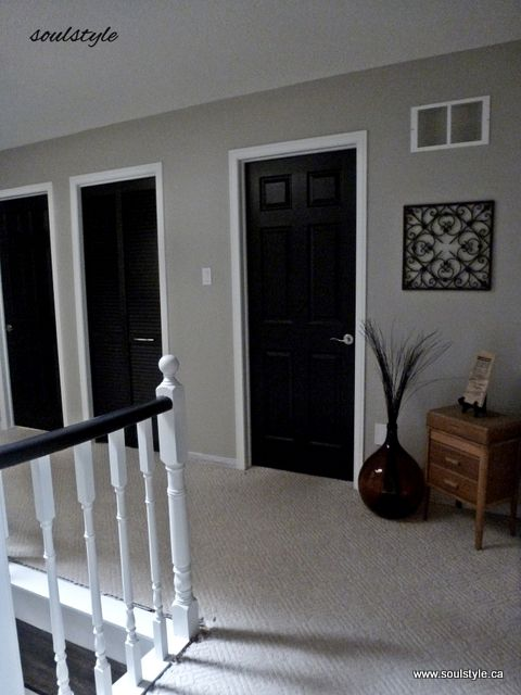 Second Floor Black Interior Doors I Ve Been Wondering How This Would Look In My House After Seeing Think It Actually Pretty Good