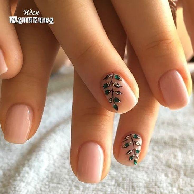 50+ nail art designs for very short nails 2018 | Nails | Pinterest ...