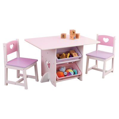 Kidkraft Heart Kids 7 Piece Table Chair Set Kids Table Chair