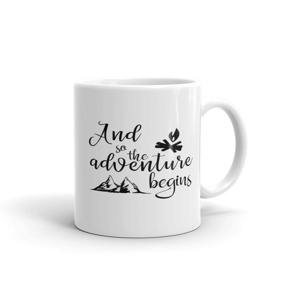 Adventure mug gift for hikers or campers gift for her