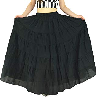 YSJERA Ladys Pleated Maxi Skirt High Waist A-Line Boho Floral Long Beach Skirts