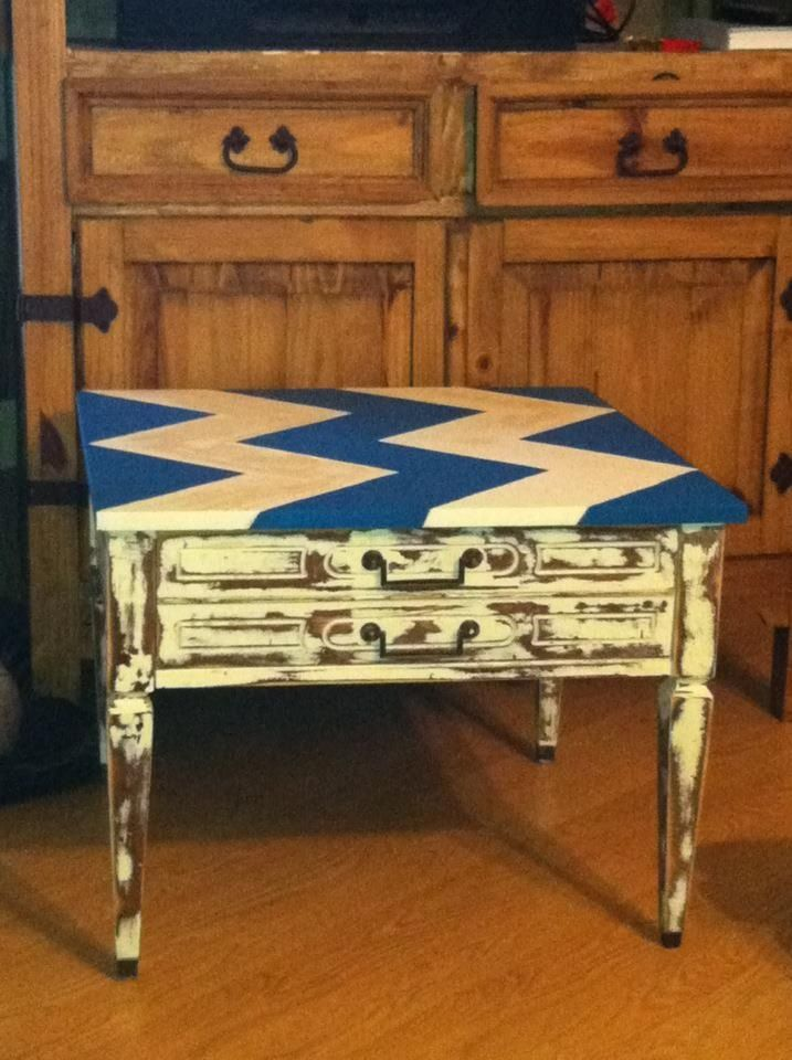 Upcycled End Table.
