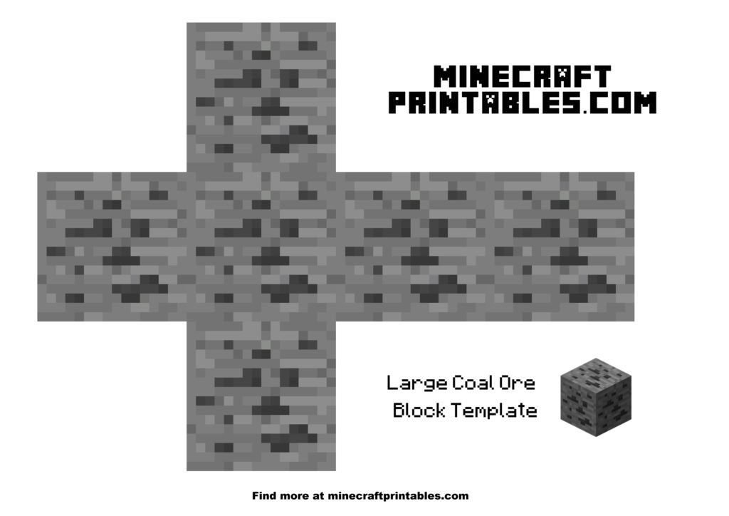 Coal Ore With Images Minecraft Printables Minecraft Templates