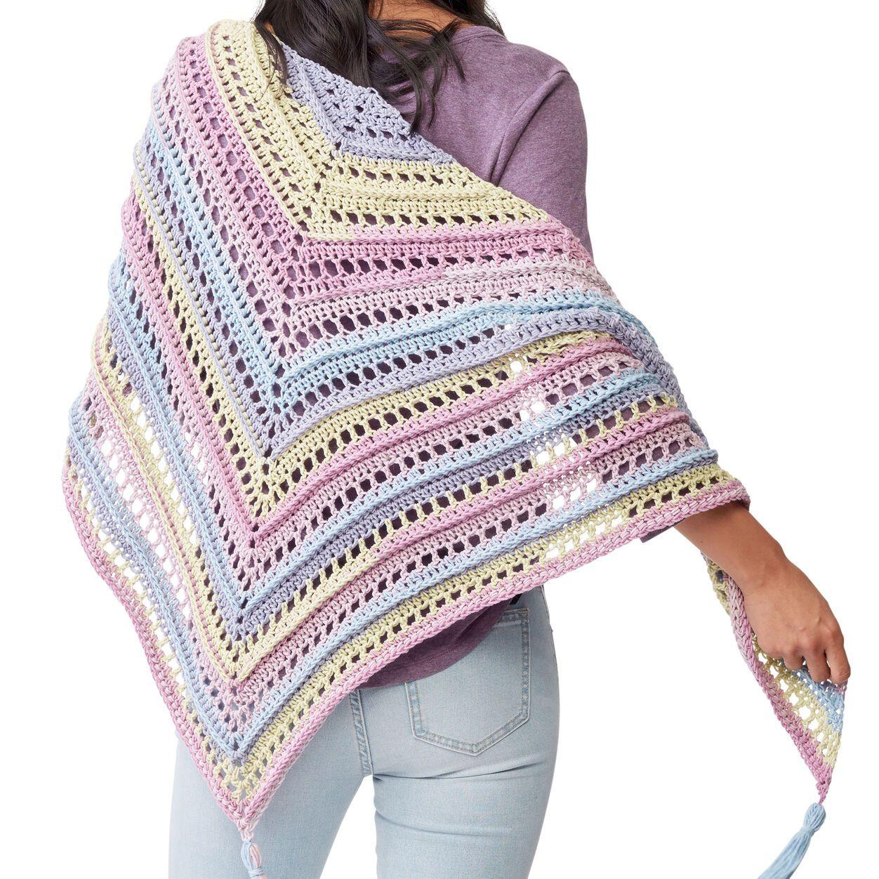 Caron cakes sunset dreams crochet shawl pattern