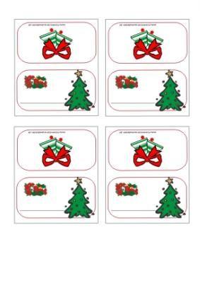 Malvorlagen Ausmalbilder Tischkarten Weihnachten | Tischkarten Weihnachten ausmalen | Tischkarten