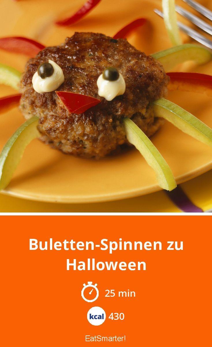 Buletten-Spinnen zu Halloween