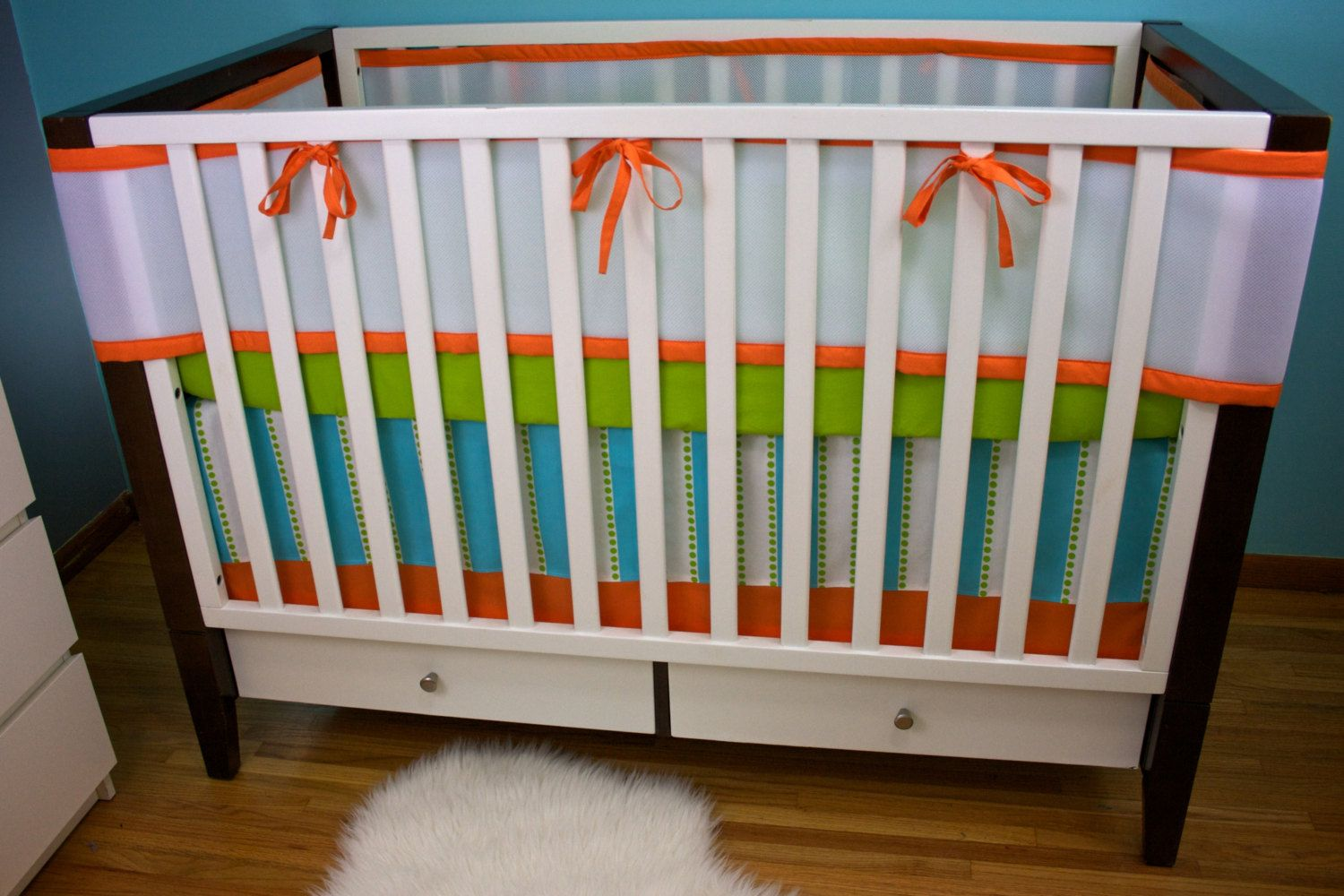 Breathable Mesh Bumpers Bumperless Custom Crib by