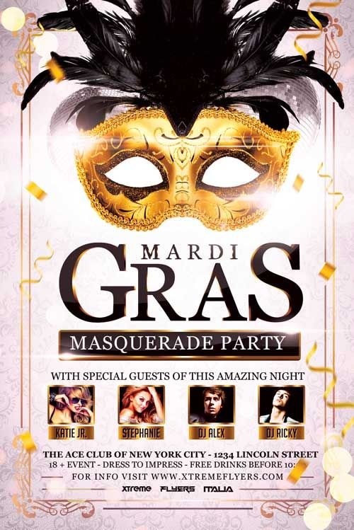Carnival Masquerade Party Flyer Template Http Xtremeflyers