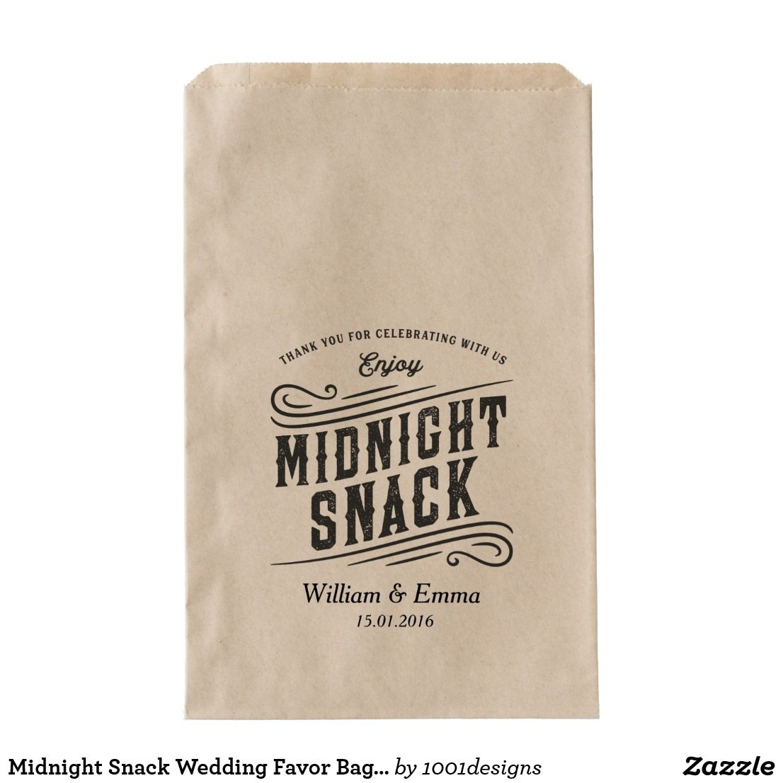 Midnight Snack Wedding Favor Bags Cookie Donuts | Wedding Vintage ...