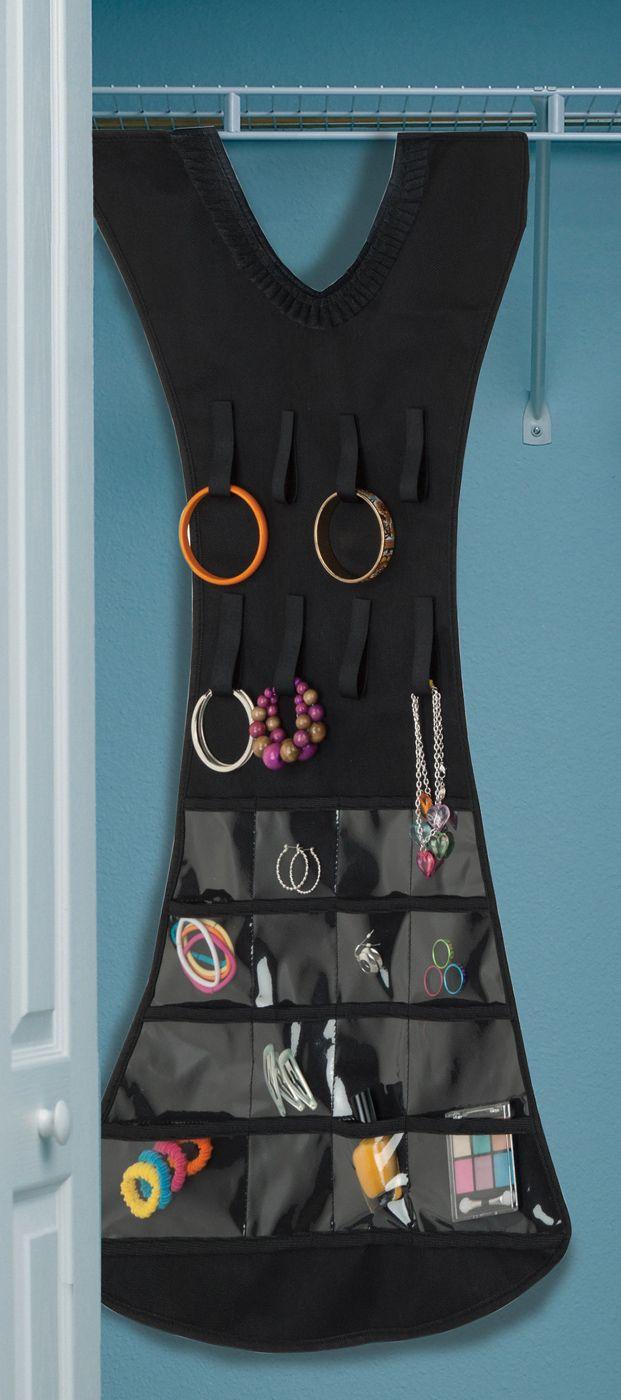 This little black dress keeps all of your jewelry neat and tidy. http://www.menards.com/main/p-2431804-c-12650.htm?utm_source=pinterest&utm_medium=social&utm_campaign=storageandorganization&utm_content=black-dress&cm_mmc=pinterest-_-social-_-storageandorganization-_-black-dress