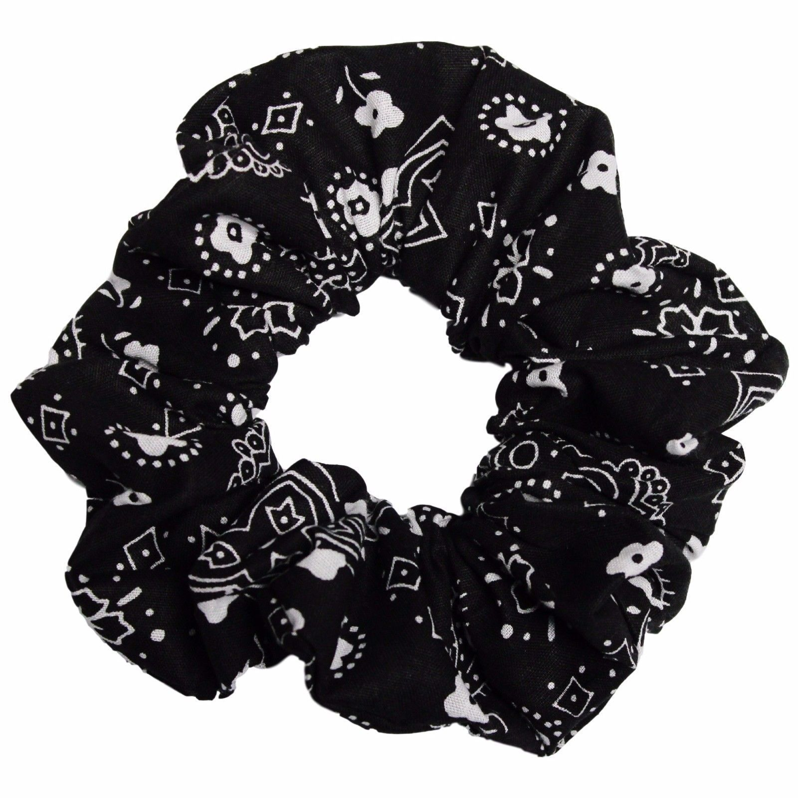 Red Black White Volleyballs Elastic Hair Accessories Ties Ponytail Scrunchies