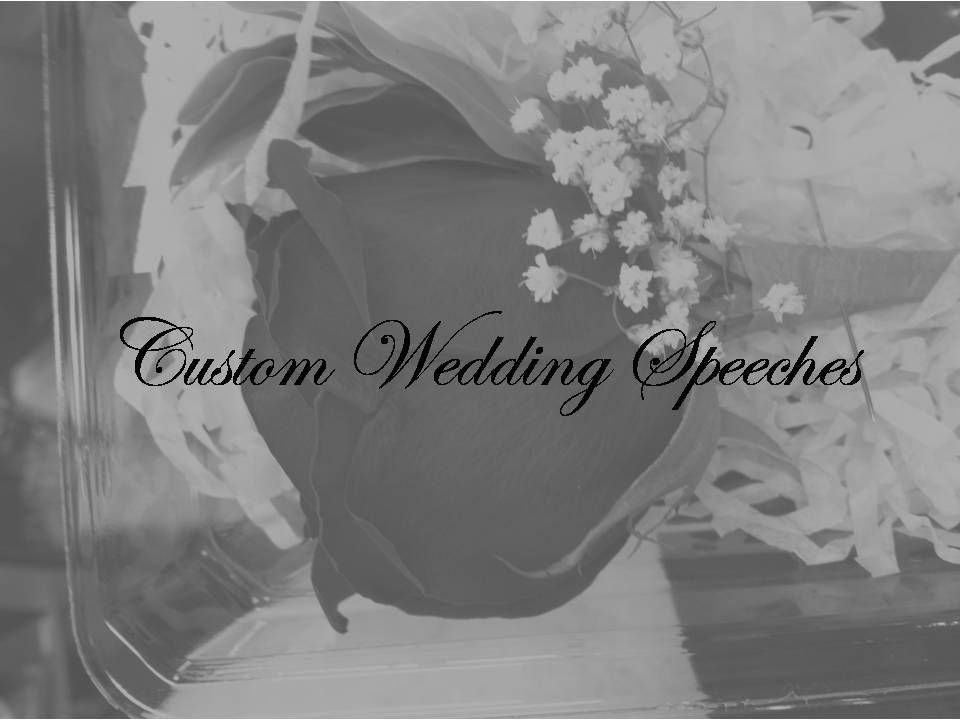 Brides Speech At Reception Grooms Wedding Blessing Custom Maid Of Honor Toast Personalized