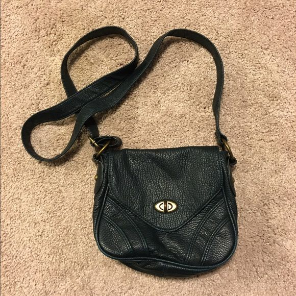 Forest green cross body purse Great condition, very cute! Has small white mark on from you can see in second picture. Xhilaration Bags Crossbody Bags