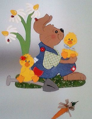 Fensterbild Hase Mit Küken Frühling Ostern Küche Dekoration