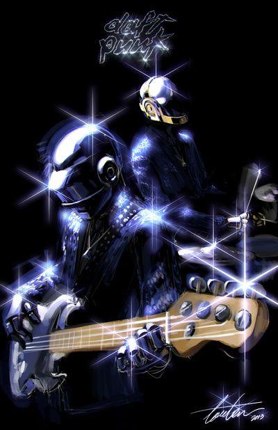 Daft Punk Art Print by Louten | Society6 | Daft punk, Daft ...