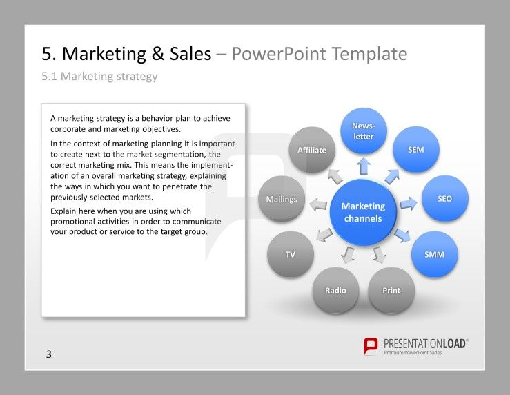 Marketing Strategy PowerPoint slide with definition: A marketing ...