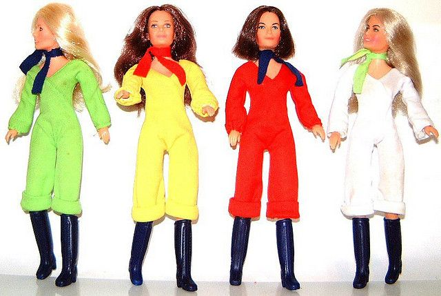 CHARLIES ANGELS DOLLS by Virgin-Archer, via Flickr  *They were cool to have but too small to wear Barbie's clothes!  lol