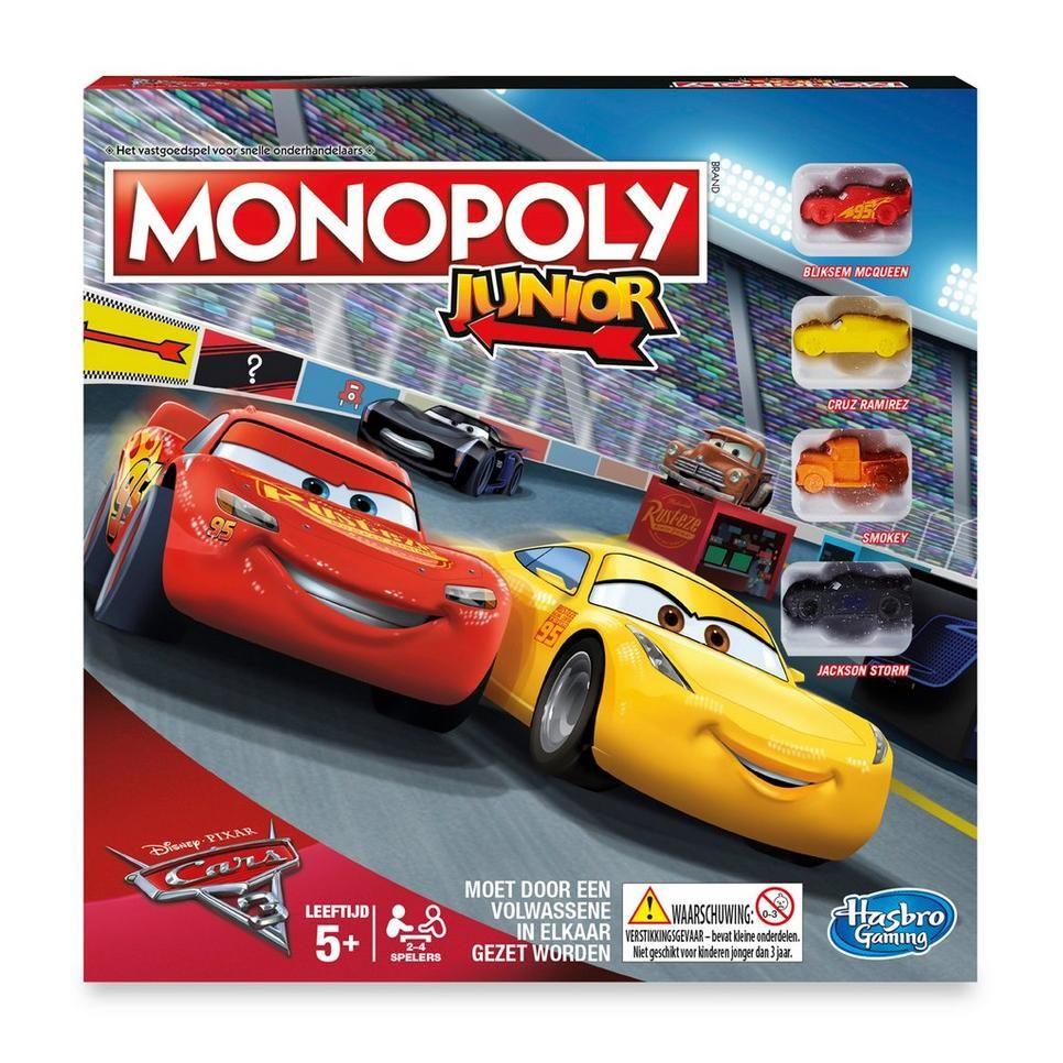 Monopoly Junior Cars 3 Monopoly Pixar Mario Kart