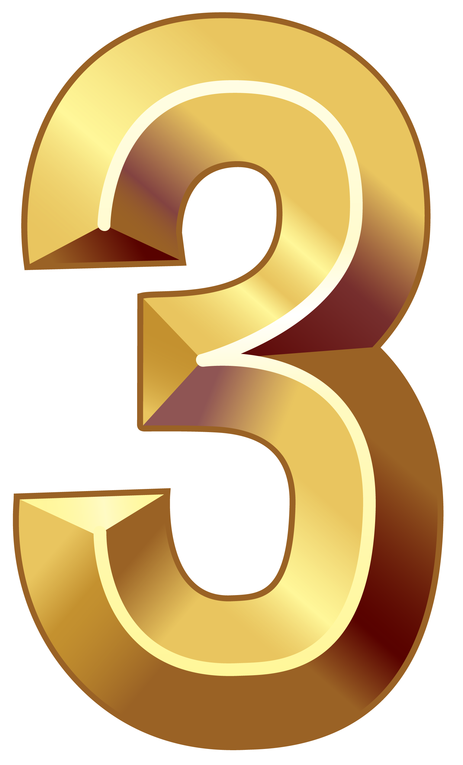 Https Gallery Yopriceville Com Free Clipart Pictures Decorative Numbers Gold Number Three Png Clipart Image Gold Number Clip Art Free Clip Art