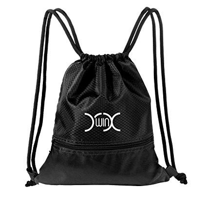 bba211f773e7 YXwin Drawstring Bag Sackpack Waterproof Sport Gym Sack for Shoes  Basketball School