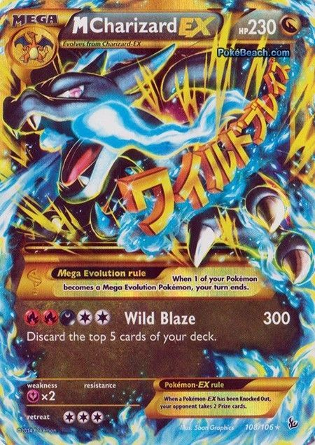 Pokemon Card Flashfire Secret Mega M Charizard Ex 108 Mint Cool Pokemon Cards Pokemon Tcg Cards Rare Pokemon Cards