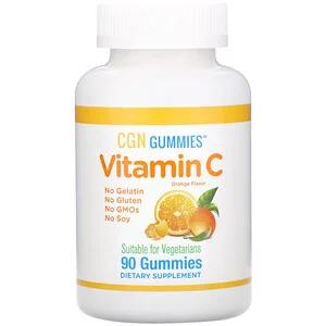California Gold Nutrition 비타민c 구미젤리 천연 오렌지 향료 젤라틴 무함유 구미젤리 90개 젤라틴 오렌지 비타민