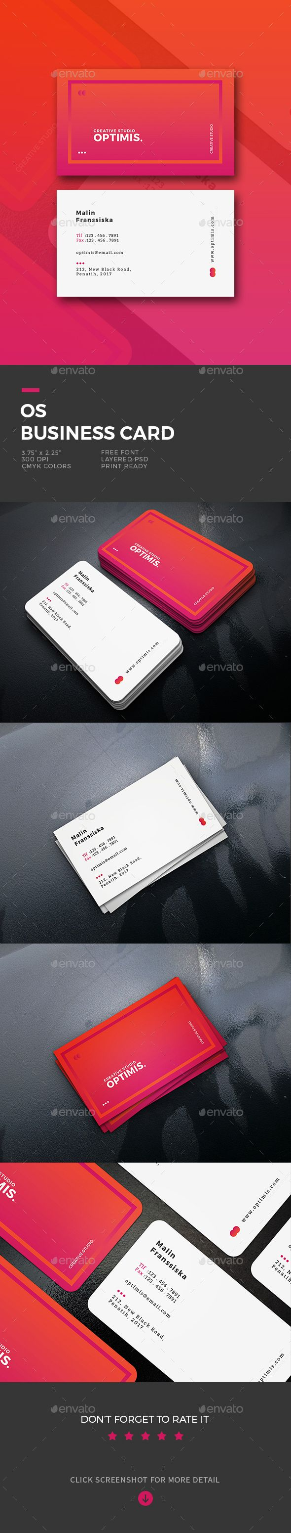os business card business cards print templates download here httpsgraphicrivernetitemos business card19625101refalena994