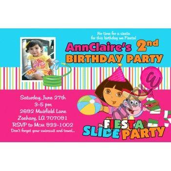 Dora Explorer Fiesta Invitations