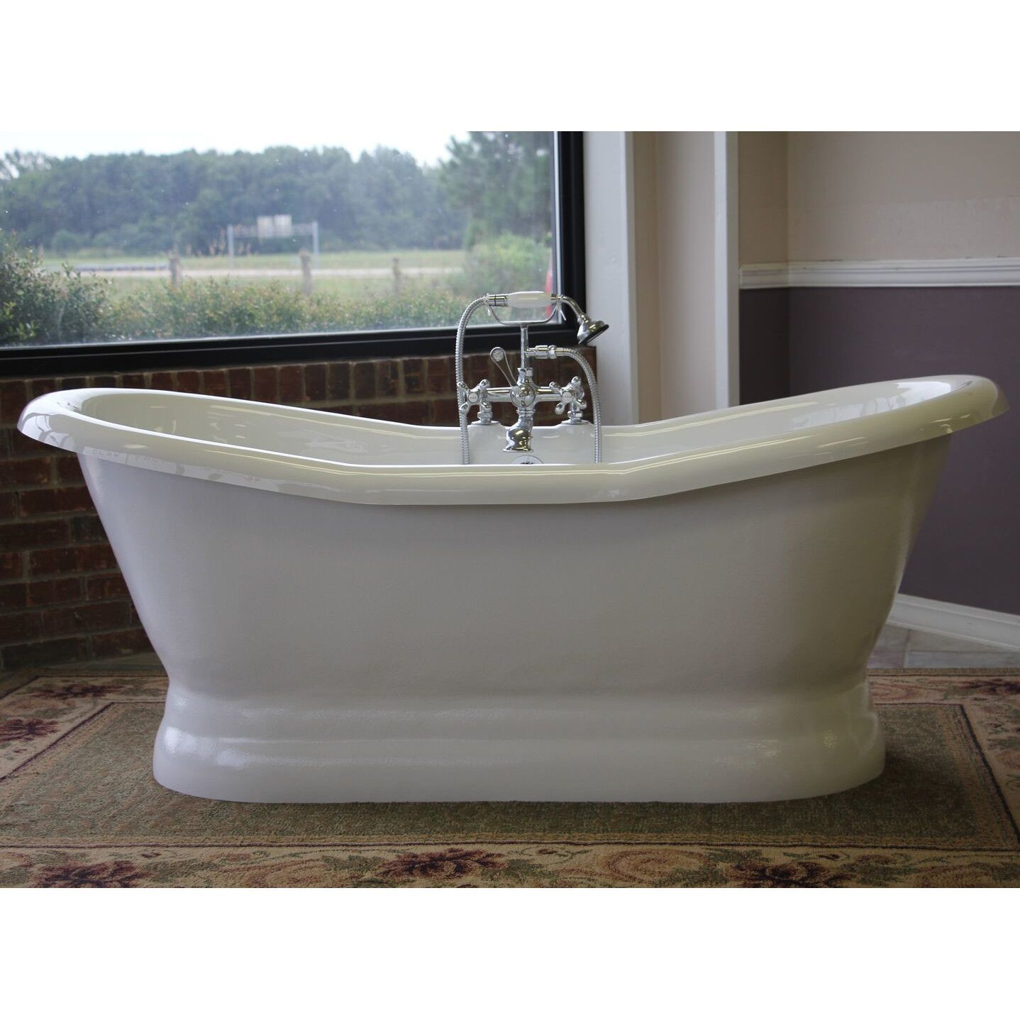 Restoria Empress 68 Freestanding Pedestal Slipper Tub For Two