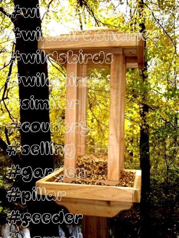 similar to This Cedar Tall Pillar Wild Bird Feeder is our Top Selling feeder and is a focal point in any Formal or Country Garden on Etsy  Items similar to This Cedar Tal...
