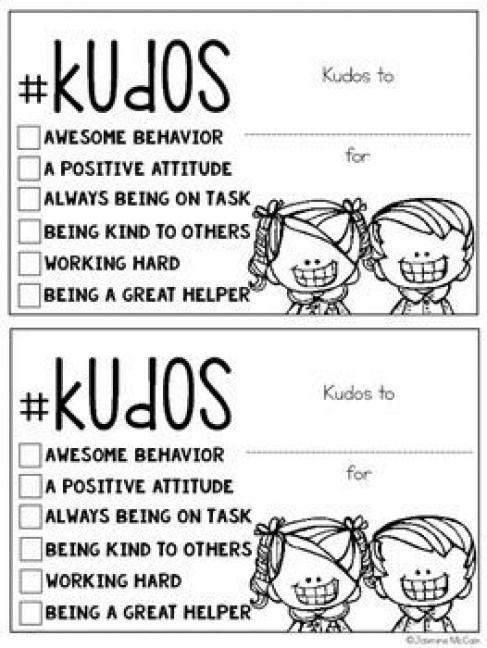 Kudos: Positive Notes for Students #positivediscipline #