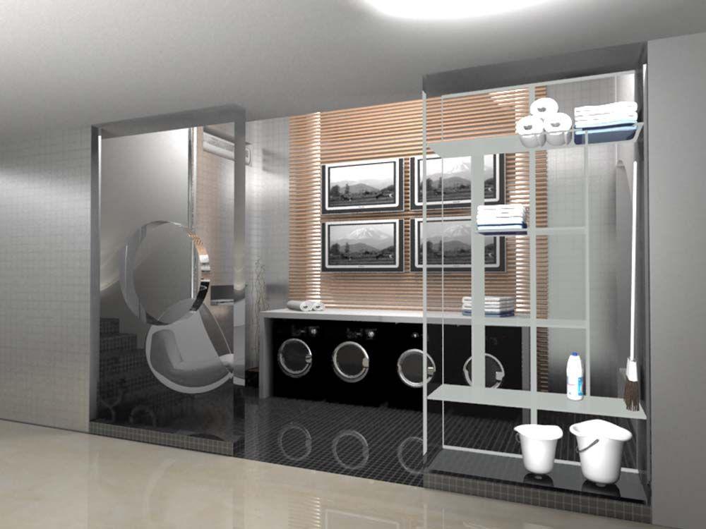 MAQUETE ELETRÔNICA: Lavanderia Casa Cor (Montagem Arquitetura)