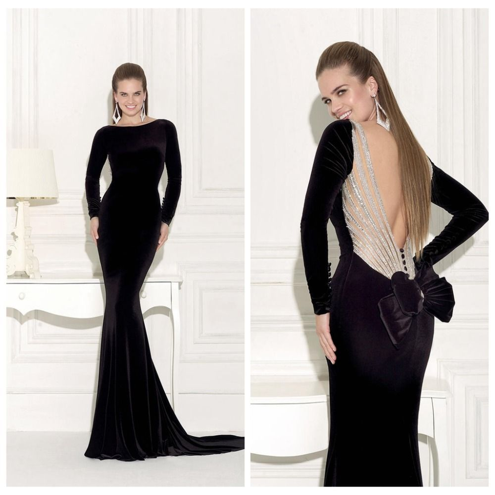 Long Sleeve Dress with Open Back