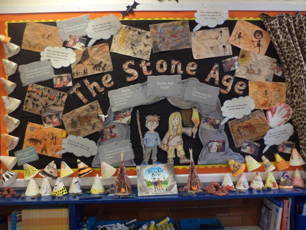 Stone Age Display Knypersley First School