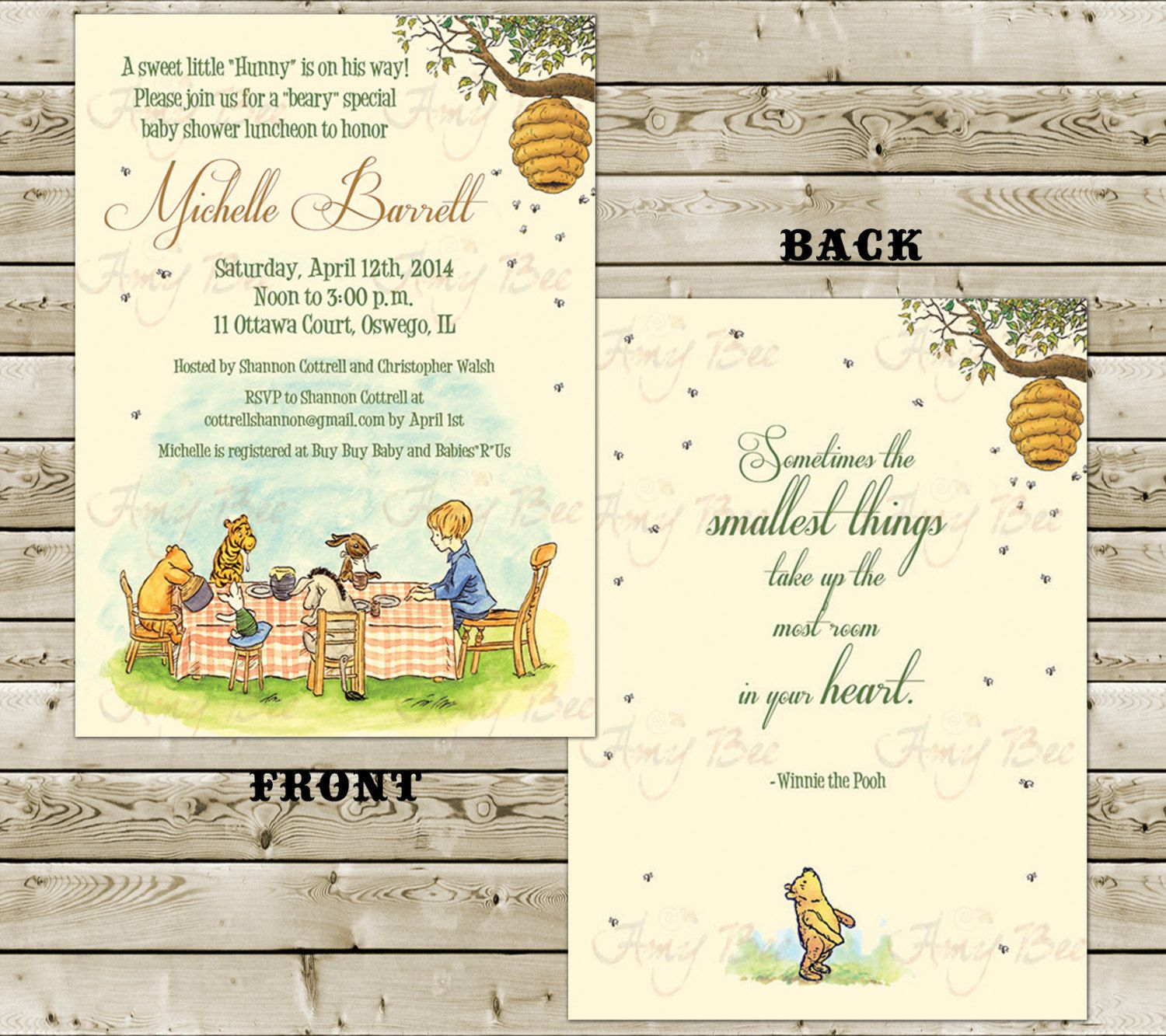 Two side classic pooh baby shower invitation printable baby babyshowerinvitation two side classic pooh baby shower invitation printable pooh classic winnie the pooh birthday invitation classic pooh boy girl filmwisefo