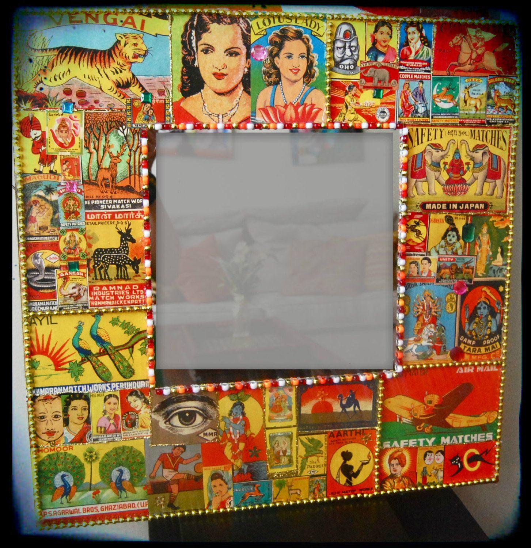 Decorative Wall Mirror Indian Kitsch Matchbox Mirror ...