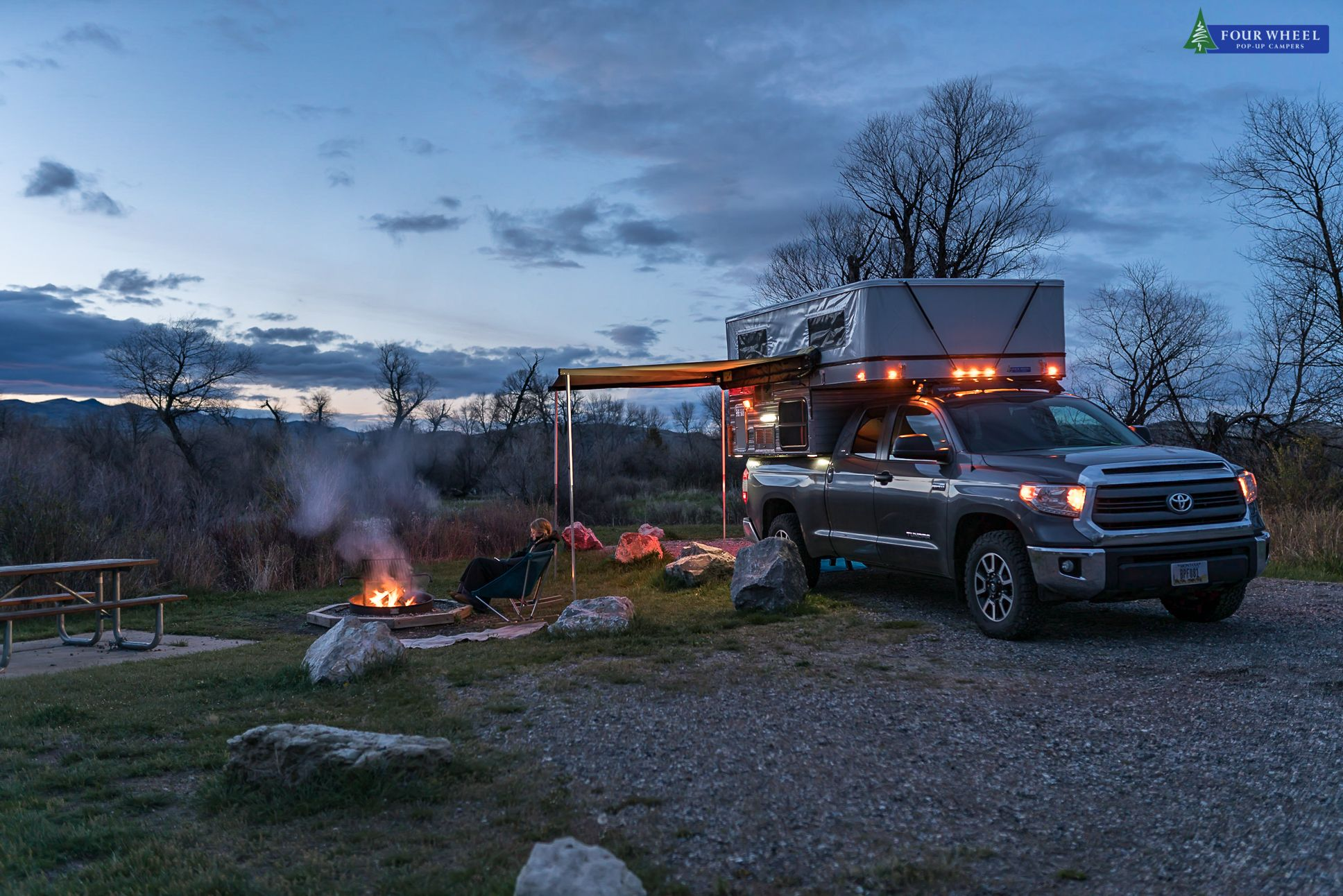 Camping In My Four Wheel Camper Popitlikeitshot Tundra Toyota