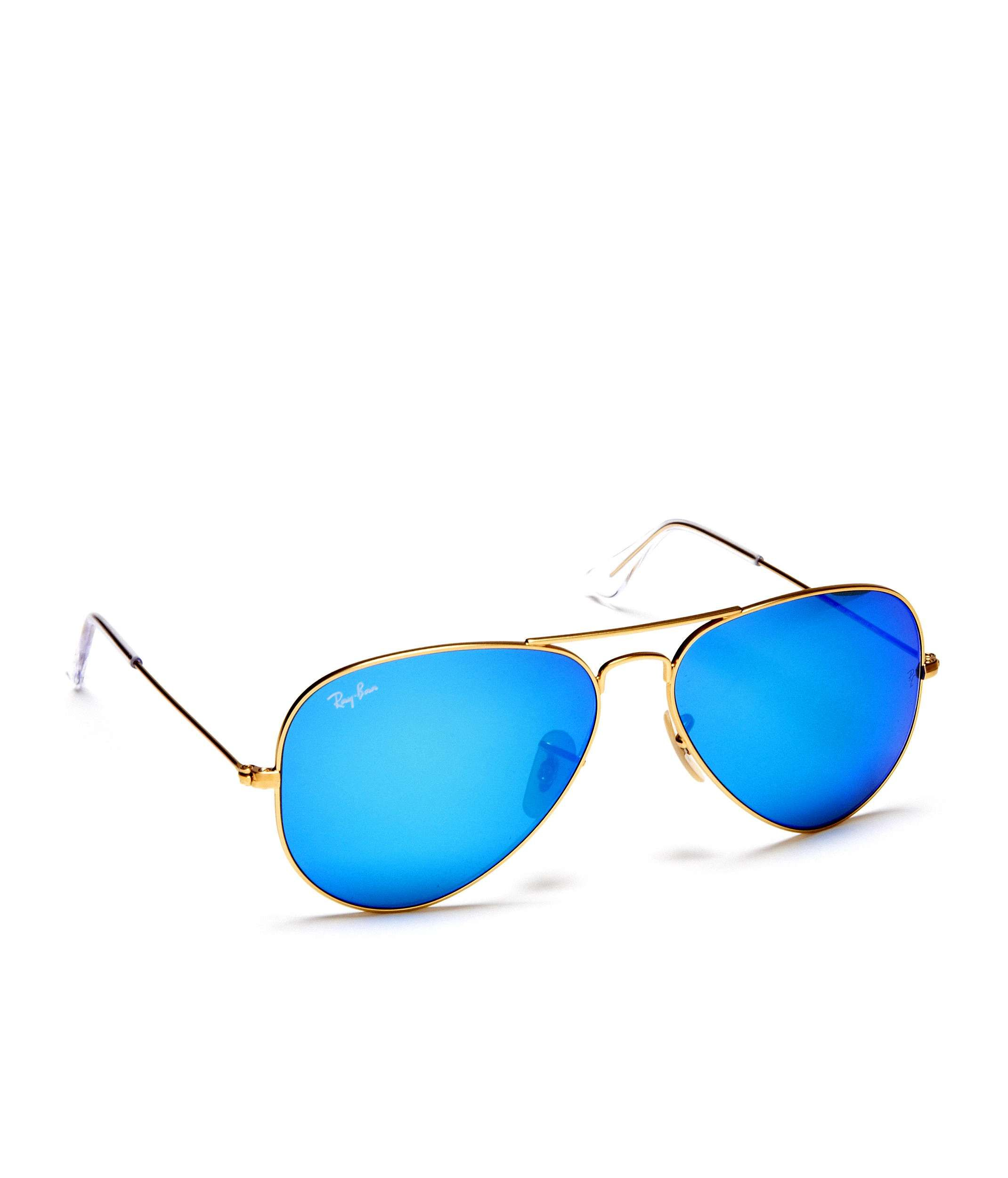 4489f16360d Blue Ray-Ban Aviator Metal Mirrored Sunglasses -Umm these are amazing!!!