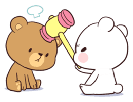 check out the Bear Couple : Milk & Mocha sticker by Shortie on chatsticker.com