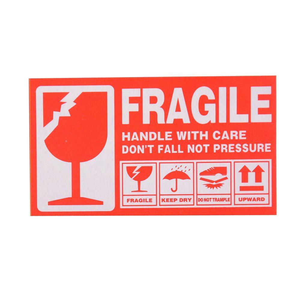 Fragile Warning Label Sticker 50pcs/lot 9x5cm Fragile