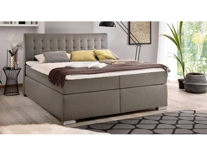 Klassisches Bettkasten Boxspringbett 160x200 Cm Anthrazit Santera Betten De Klassisches Bettkasten Boxsprin In 2020 Box Spring Bed Storage Bench Bedroom Bed