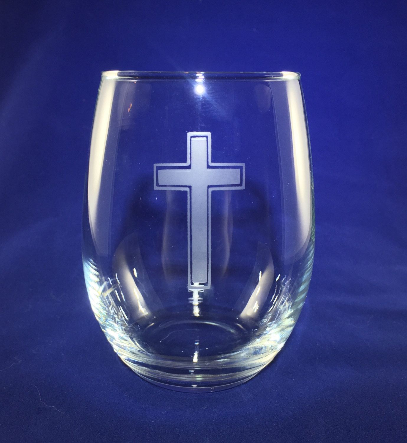 This Etched Cross Wine Glass Is The Perfect Gift For Any Godmother Godfather And Godparent Wine Glass Wine Glass
