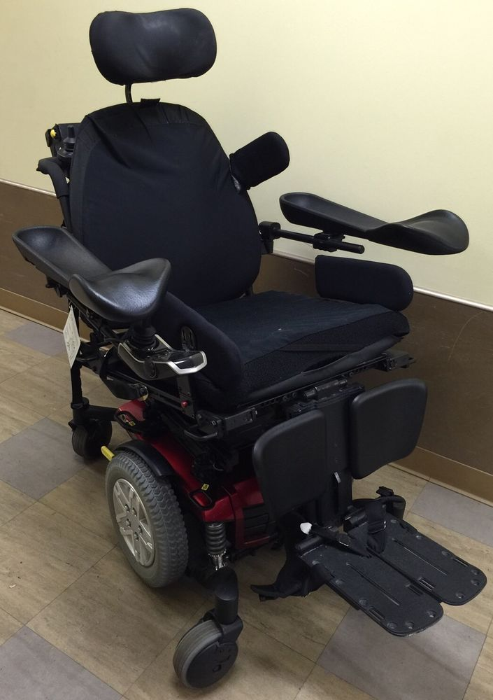 Used Red Pride Mobility Quantum Rehab Power Wheelchair