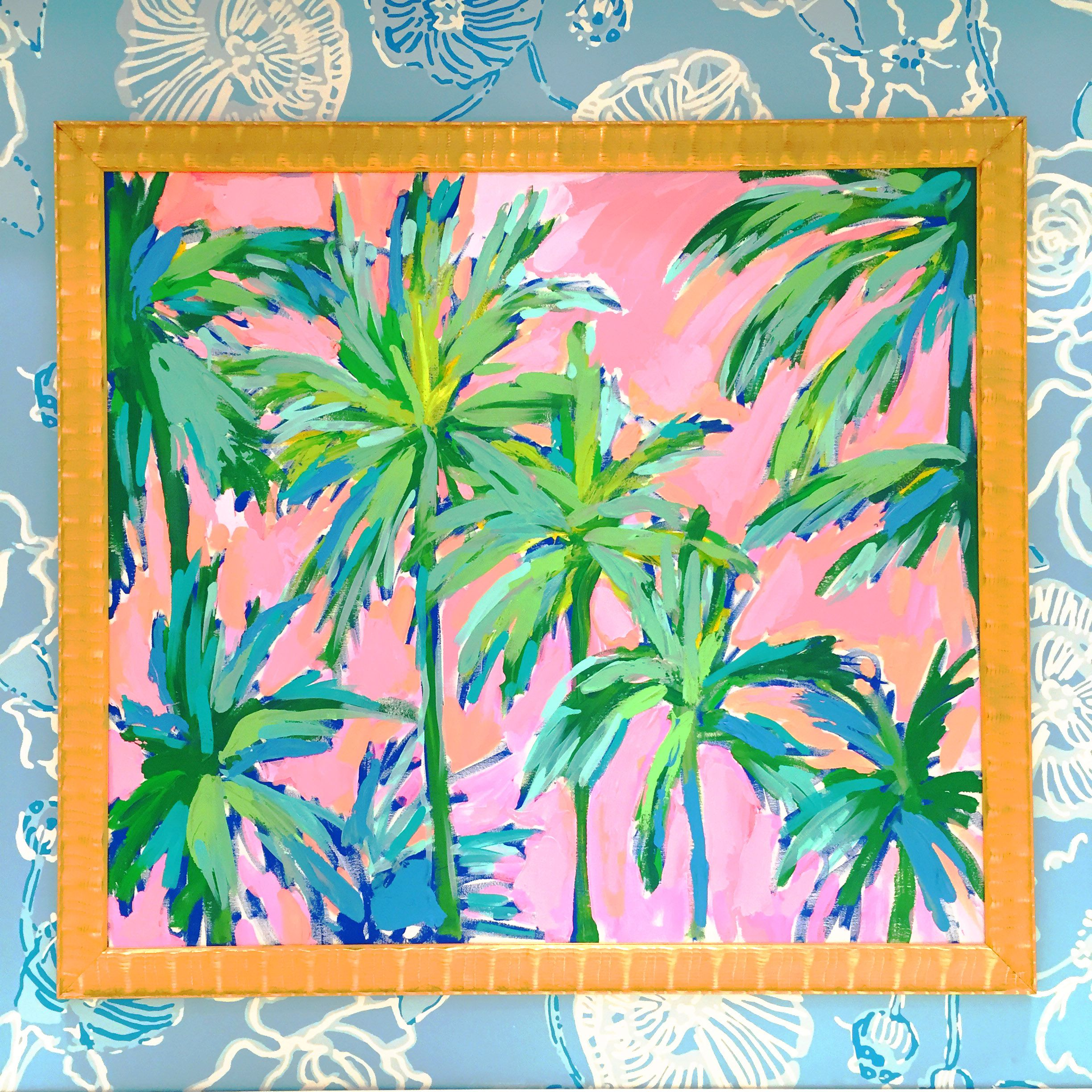 41639a71198473 Lilly Pulitzer Print Designer Painting in the Waterside Shops in Naples