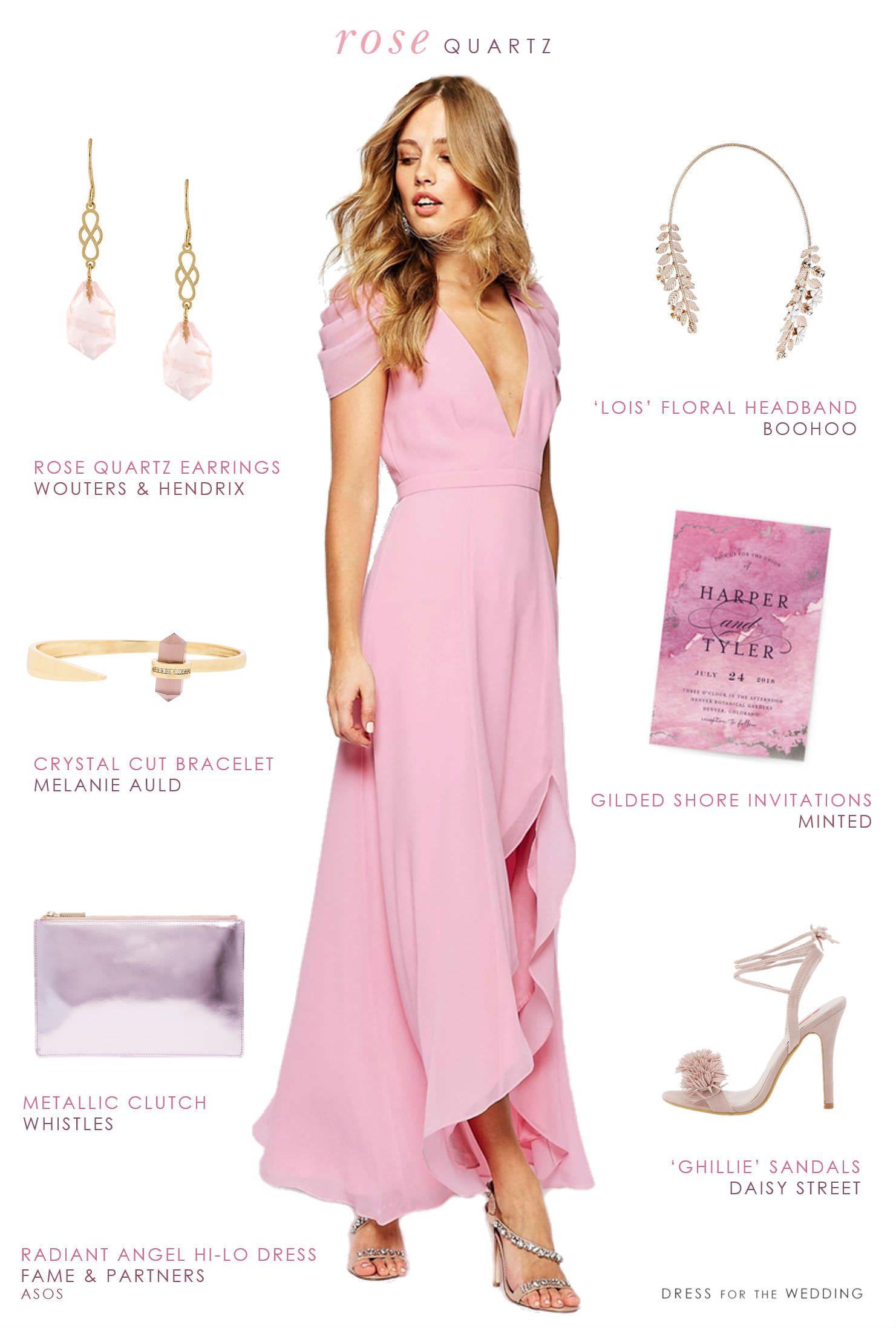 Long Pink Bridesmaid Dress | Damitas de honor, Casamiento y Damas