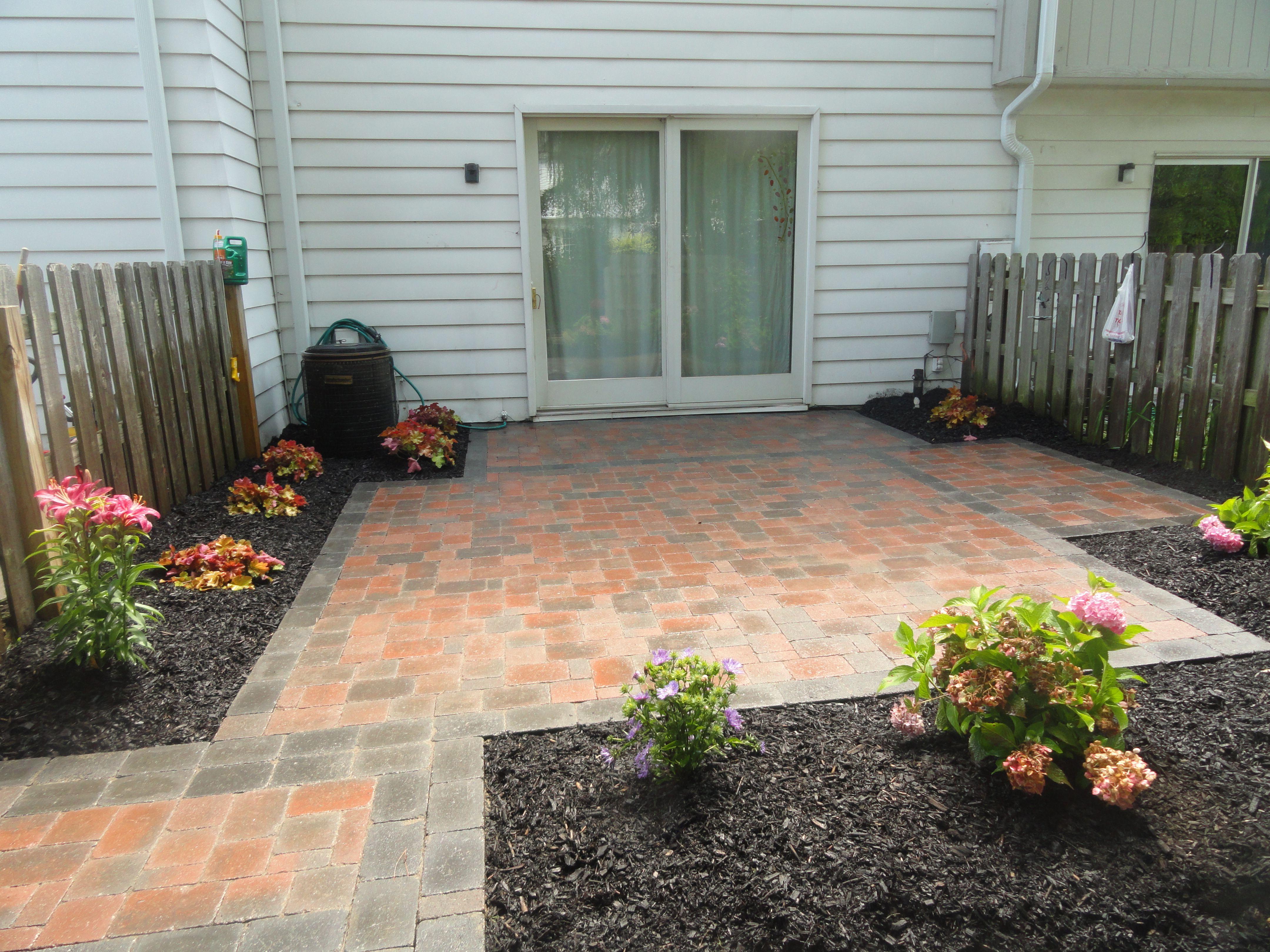 beautiful brick paver patio and
