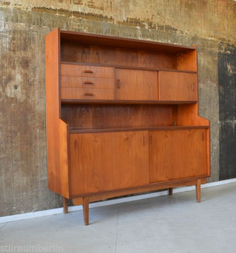 60er teak highboard kommode schrank danish design 60s credenza cabinet sideboard ebay i love. Black Bedroom Furniture Sets. Home Design Ideas