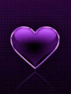 Fave Purple Heart On Black Wallpaper Background Purple Love Heart Wallpaper Black And White Heart