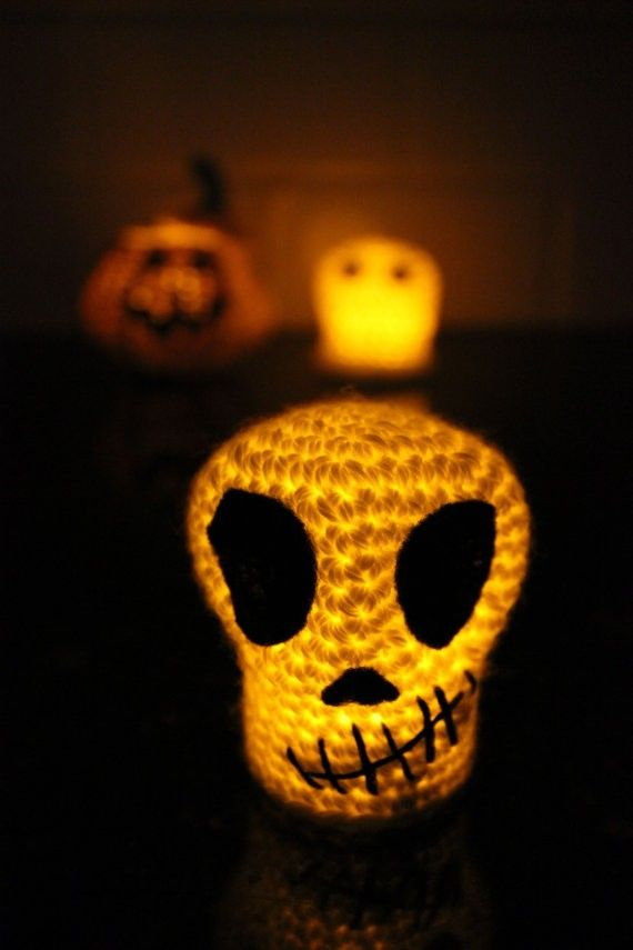 PATTERN Crochet BUNDLE 2015 Halloween Decoration Ghost Skull2015 - skull halloween decorations