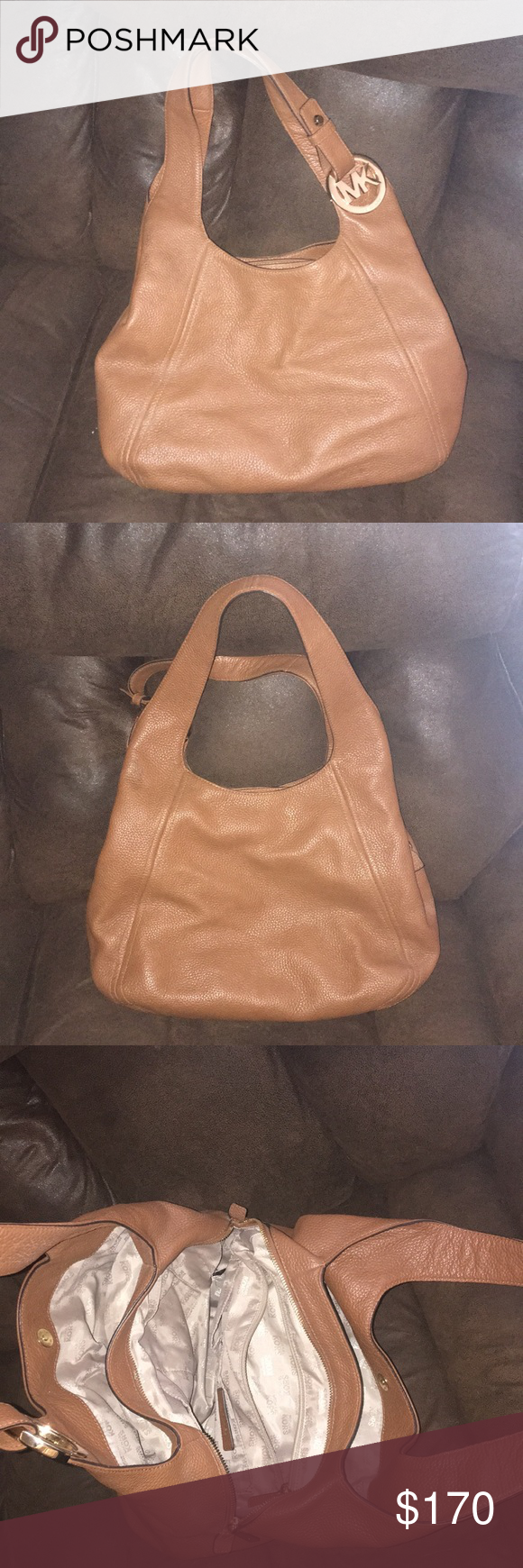 783b983e77a Michael Kors handbag luggage color discontinued Only used 1 time in  excellent condition! Michael Kors Bags Shoulder Bags
